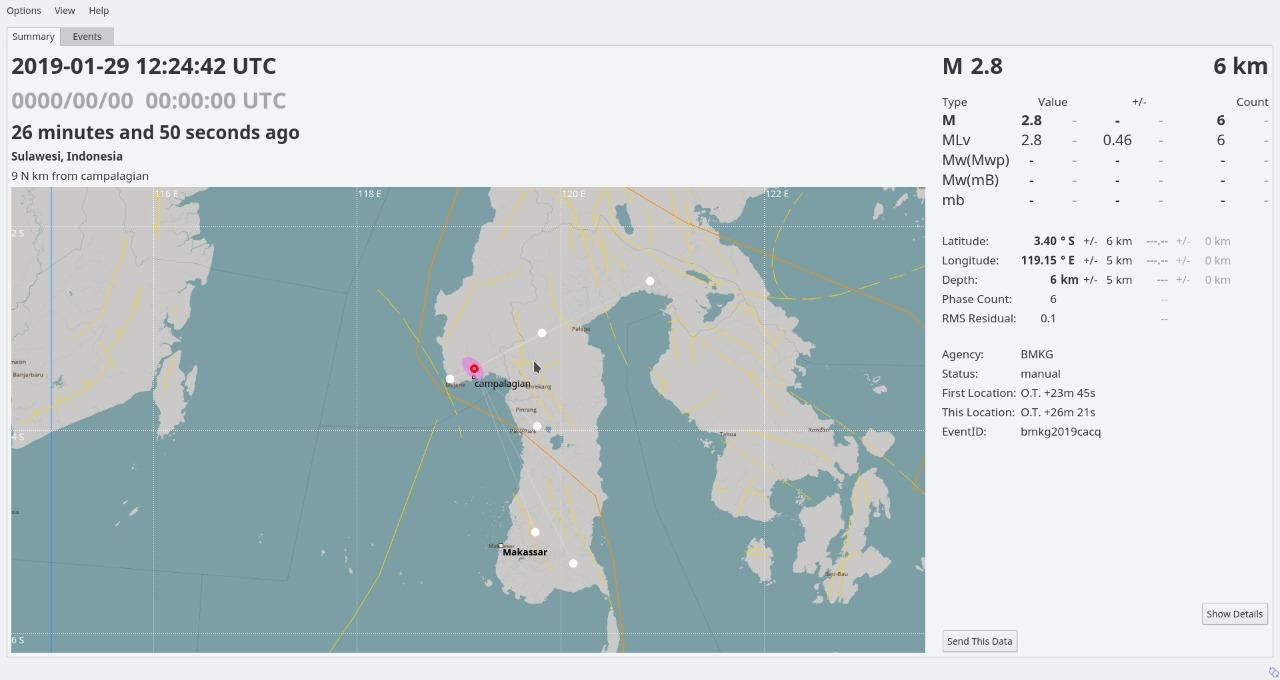 Photo of Gempa Tektonik M 3,5 Guncang Mamasa