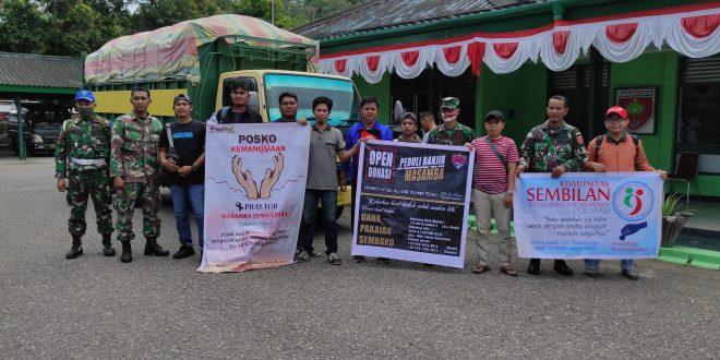 Bersama Gabungan Komunitas, Kodim 1402 Polman Berangkatkan Bantuan Kemanusiaan Ke Masamba